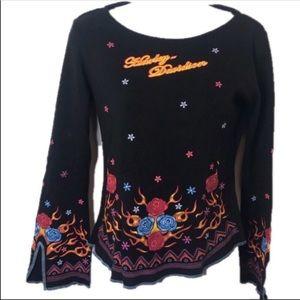 Harley Davidson Floral T-shirt